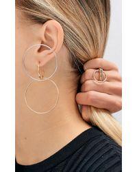 Charlotte Chesnais - Multicolor Set Of Silver, Yellow Vermeil & Pink Vermeil Galilea Large Earrings - Lyst