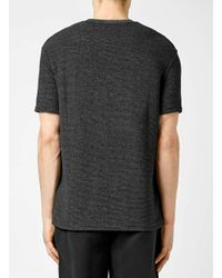 TOPMAN - Gray Grey Speckle Textured Slim Fit T-shirt for Men - Lyst