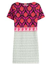 Mary Katrantzou | Pink Benyon Silk-satin Dress | Lyst