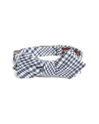 Alexander Olch - Blue Plaid Wool Bow Tie for Men - Lyst
