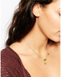 Les Nereides - Green Pansy Necklace - Lyst