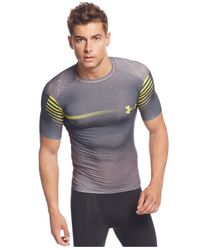 Under Armour | Gray Men's Exo Compression T-shirt for Men | Lyst