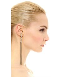 Alexis Bittar - Metallic Tassel Jagged Marquis Earrings - Gold/clear - Lyst