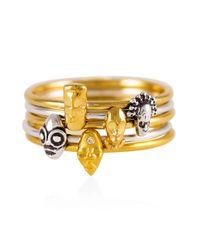 Lee Renee | Metallic Tiny Voodoo Erzulie Ring Diamond & Gold Vermeil | Lyst