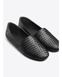 Vince - Black Bogart Woven-Leather Flats - Lyst