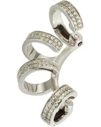 Repossi - Metallic Diamond 4row Berbãre Earring - Lyst