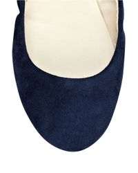 Nine West | Blue Mistray Suede Flats | Lyst