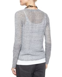Eileen Fisher - White Rustic Speckle Cardigan - Lyst