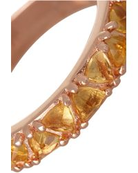 Katie Rowland | Pink Circe Trillion Rose Gold-tone Crystal Ring | Lyst
