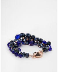 Ted Baker | Blue Bead Cluster Bracelet | Lyst