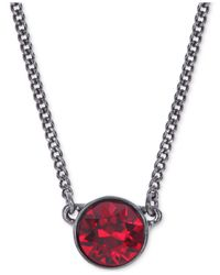 Givenchy | Purple Light Hematite-tone Pendant Necklace | Lyst