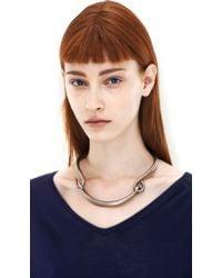 Acne | Metallic Carena Silver Necklace | Lyst