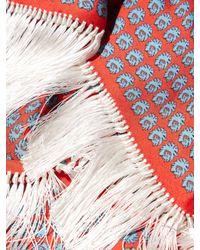 Balenciaga - Red Tassel-trim Silk-twill Scarf - Lyst