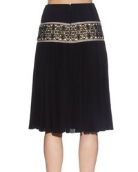 Alexander McQueen - Black Ruched-tiered Knit Skirt - Lyst