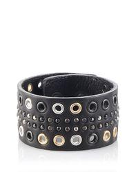 DIESEL   Black Apunkt Bracelet for Men   Lyst