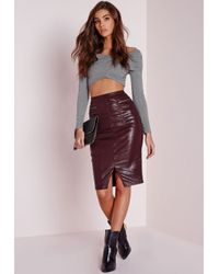 Missguided - Gray Wrap Jersey Long Sleeve Top Grey - Lyst