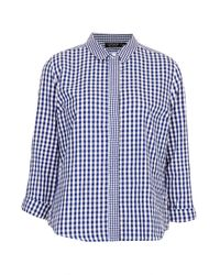 TOPSHOP | Blue Mix Gingham Shirt | Lyst