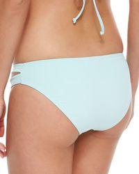 L*Space - Blue Full-cut Side-slit Swim Bottom - Lyst