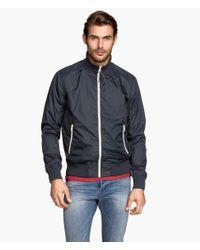 H&M - Blue Nylon Jacket for Men - Lyst