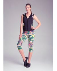 Bebe | Green Print Tulip Capri Pants | Lyst