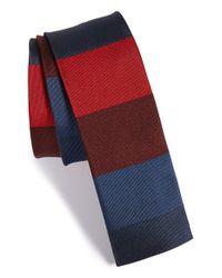 Paul Smith - Blue Stripe Silk Tie for Men - Lyst
