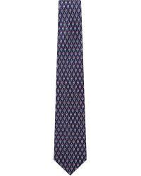 Ferragamo - Blue Cycle Print Silk Tie for Men - Lyst