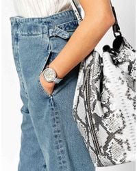 Michael Kors | Blue Mk6138 Silver Parker Watch | Lyst