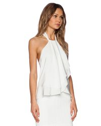 Amanda Uprichard | White Cascade Top | Lyst