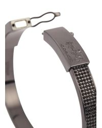 COACH - Metallic Gunmetal Crystal Embellished Bracelet - Lyst