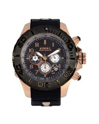Kyboe | Black ! 'empire' Chronograph Silicone Strap Watch for Men | Lyst