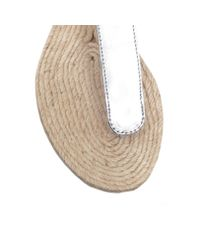 Kurt Geiger - Metallic Marla Flat Sandals - Lyst