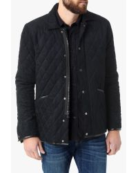 7 For All Mankind | Blue Quilted Barn Jacket In Navy for Men | Lyst