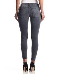 Hudson Jeans   Gray Krista Ankle Super Skinny   Lyst