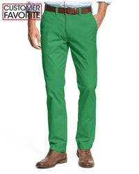 Tommy Hilfiger - Green Custom-Fit Chino Pants for Men - Lyst