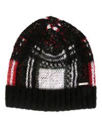 DIESEL - Black Knit Beanie for Men - Lyst