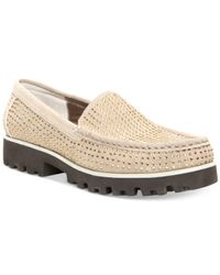 Donald J Pliner | Natural Rio Flatform Loafers | Lyst