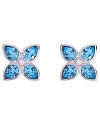 Ted Baker - Blue Floa Gem Flower Earrings - Lyst