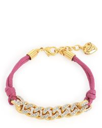 Juicy Couture | Purple Pave Chain And Cord Bracelet | Lyst
