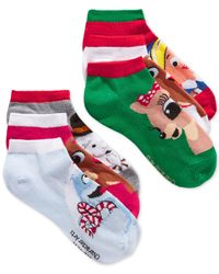 Disney | Multicolor Women's Rudolph The Red-nosed Reindeer Assorted Holiday Socks 6 Pack | Lyst