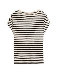 Tory Burch   Natural Wool And Cashmere-blend Top   Lyst