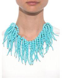 Rosantica By Michela Panero - Blue Anemone Stone-Fringe Necklace - Lyst