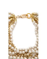 Fallon - Orange Swarovski Pearl Layered Necklace - Lyst