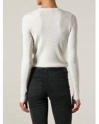 IRO - White 'Serena' Ribbed Sweater - Lyst