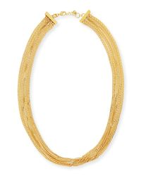 Tuleste | Metallic Long Multi-strand Necklace | Lyst