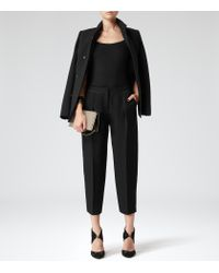 Reiss | Black Camellia Jersey Cami Top | Lyst
