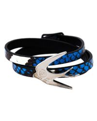 McQ | Multicolor Swallow Triple Wrap Bracelet | Lyst