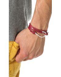 Miansai   Metallic Hooked Leather Wrap Bracelet for Men   Lyst