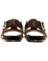 Dolce & Gabbana | Gold Embellished Satin Sandals | Lyst
