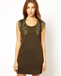 Traffic People | Green Silk Streamer Dress | Lyst