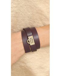 Ferragamo | Purple Bracciali Gancet Bracelet - Rouge Noir | Lyst